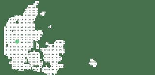 Kort over Danmark med herning
