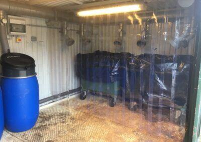 Lamelforhæng til 660 liter container
