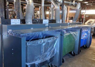 Udsugningskabiner til 660 liter container