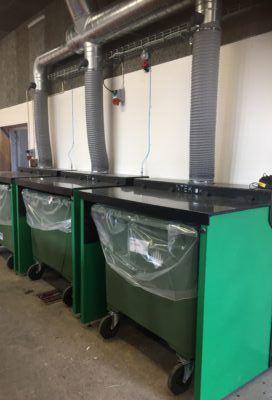 Udsugningskabiner 660 ltr. regenerat plast