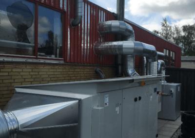 Rumventilationsanlæg med høj varmegenvinding