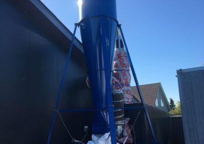 Cyklonfilter med cellesluse og big bag
