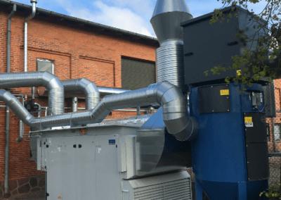 Sammenbygget ventilationsanlæg med høj varmegenvinding