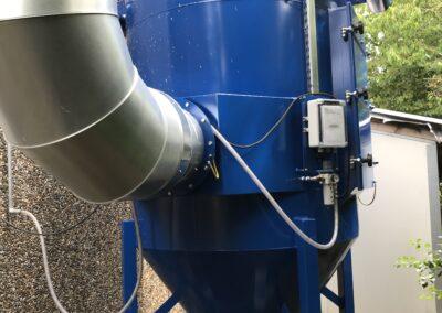Filteranlæg til svejserøg og slibestøv